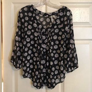 Flowy floral print top, size small
